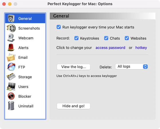 Perfect Keylogger for Mac Full - General